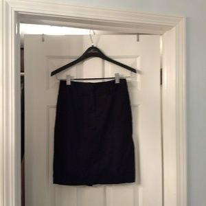 Zara Black Cotton Blend 5 Pocket Pencil Skirt, S